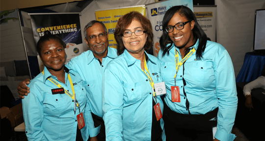 Harry Boorasingh, regional manager, JNMS North East, JNMS (USA) and Paula Fennell, regional manager, business development and agent Coordination, JN Money Services Canada (Ltd) and Sanya Wallace, Strategic Planning, Reporting & Budgeting Manager, JNMS